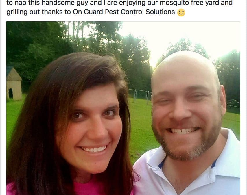 Happy Family with Mosquito Free Yard in Byron GA